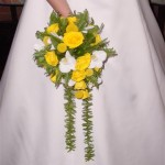 Bruidsboeket geel a