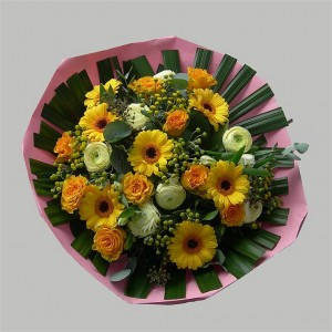 Geel Gerbera rosen (Medium)
